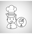 cartoon chef gourmet tasty ice cream vector image