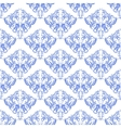 damask seamless on white background vector image