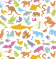 seamless background with animal vector image