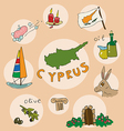 set of national profile of the cyprus vector image