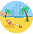 Summertime - round banner vector image