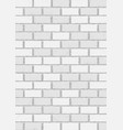 White old brick vertical background vector image