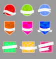Set of banners with a polygonal background and vector image
