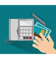 Phone and picture of office and work design vector image