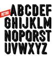 handmade retro font black dot inline condensed vector image