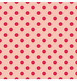 Seamless red polka dots on pink background vector image vector image