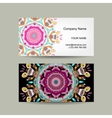 Business card design Ornate background vector image vector image