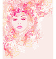 Abstract Beautiful Woman portrait vector image