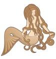 sitting mermaid vector image vector image