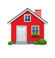red house icon vector image