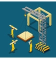 Building Construction Beginning Isometric Banner vector image