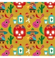 Mexico - pattern with icons vector image
