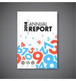 modern abstract annual report design template vector image