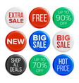 sale badges discount bubble tags product vector image