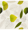 spring leafs abstract seamless pattern vector image