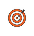 target and arrow icon isolated vector image