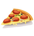 pepperoni cheesy pizza part vector image