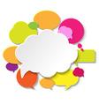 Colorful Speech Bubble Banner vector image