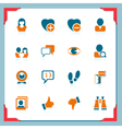social and communication icons in a frame series vector image