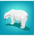 polar bear on blue background Eps 10 vector image