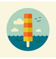 Ice Cream icon Summer Beach Sun Sea vector image