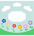 Background with flowers and frame for scrapbook vector image vector image