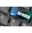 Button with aroma on Computer Keyboard key vector image