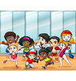 Children in different sport costumes vector image