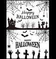 happy halloween wish poster vector image