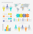 infographic presentation templates vector image