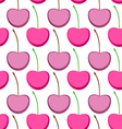 Seamless pattern with berry cherry vector image