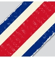 Costa Rican grunge flag vector image