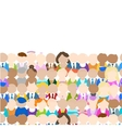 Seamless pattern with people icons for your design vector image