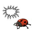 ladybug-100 vector image