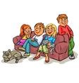 Family on a sofa vector image