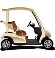 golfer cart vector image