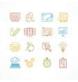Design web site development theme colorful icon vector image vector image