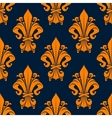 Medieval floral seamless pattern with fleur-de-lis vector image vector image