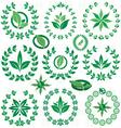 Set ecofriendly laurel wreath vector image vector image