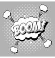 Bubble pop art of boom design vector image