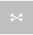 crossed bones computer symbol vector image