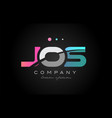 Jos j o s three letter logo icon design vector image
