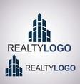 realty logo 9 2 vector image