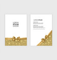 set of gift voucher card template advertising or vector image