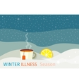 Winter Illness Season People Design vector image