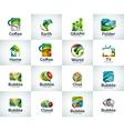 set of abstract unusual internet logos vector image