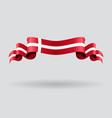 Danish wavy flag vector image vector image