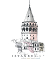 Galata Tower Drawing vector image