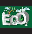 eco green city design3disometric vector image