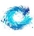 splash round water vector image vector image